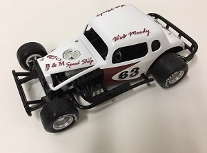 Wes Moody #63 B &M Speed Shop 1/25th custom built modified coupe