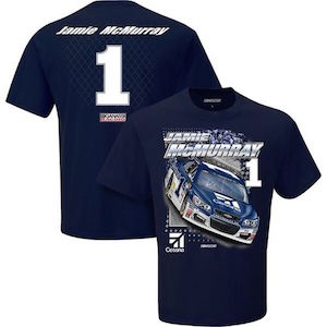 Jamie McMurray #1 Cessna Chevy SS navy blue Spoiler tee shirt