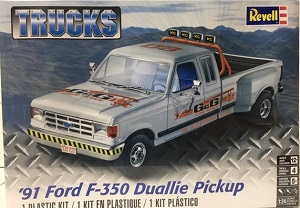 1991 Ford F-350 Duallie Pickup 1/24th Revell plastic model kit