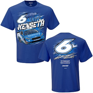 Matt Kenseth #6  2018 Wyndham Rewards Torque blue  t-shirt