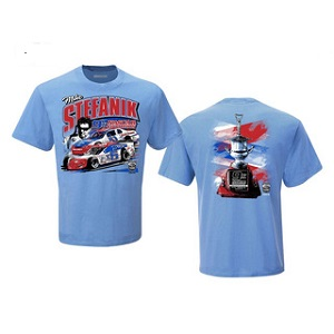 Mike Stefanik #x6 Modified and #51 Busch North Series 2021 Hall of Fame Induction t-shirt