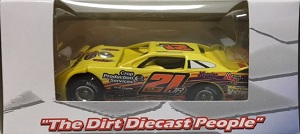 Billy Moyer Jr #21 1/64th 2016 ADC Crop Production Services dirt late model