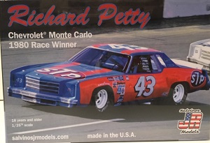 Richard Petty #43 1/25th  1980 STP Monte Carlo race winner plastic model kit