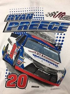 Ryan Preece #20 Mohawk Northeast Joe Gibbs Racing Xfinity Toyota shirt