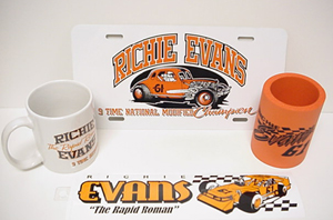 Richie Evans #61 mug/ license plate/coolee/ bumper strip set