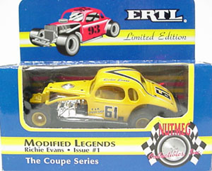 Richie Evans #61 1/64th Nutmeg coupe modified (yellow paint)