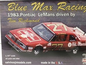 Tim Richmond #27 Blue Max Old Milwaukee 1983 Pontiac LeMans JR Salvino model kit