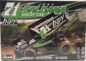 Joey Saldana #71 Indy Race Parts Sprint Car 1/24th Revell plastic model kit