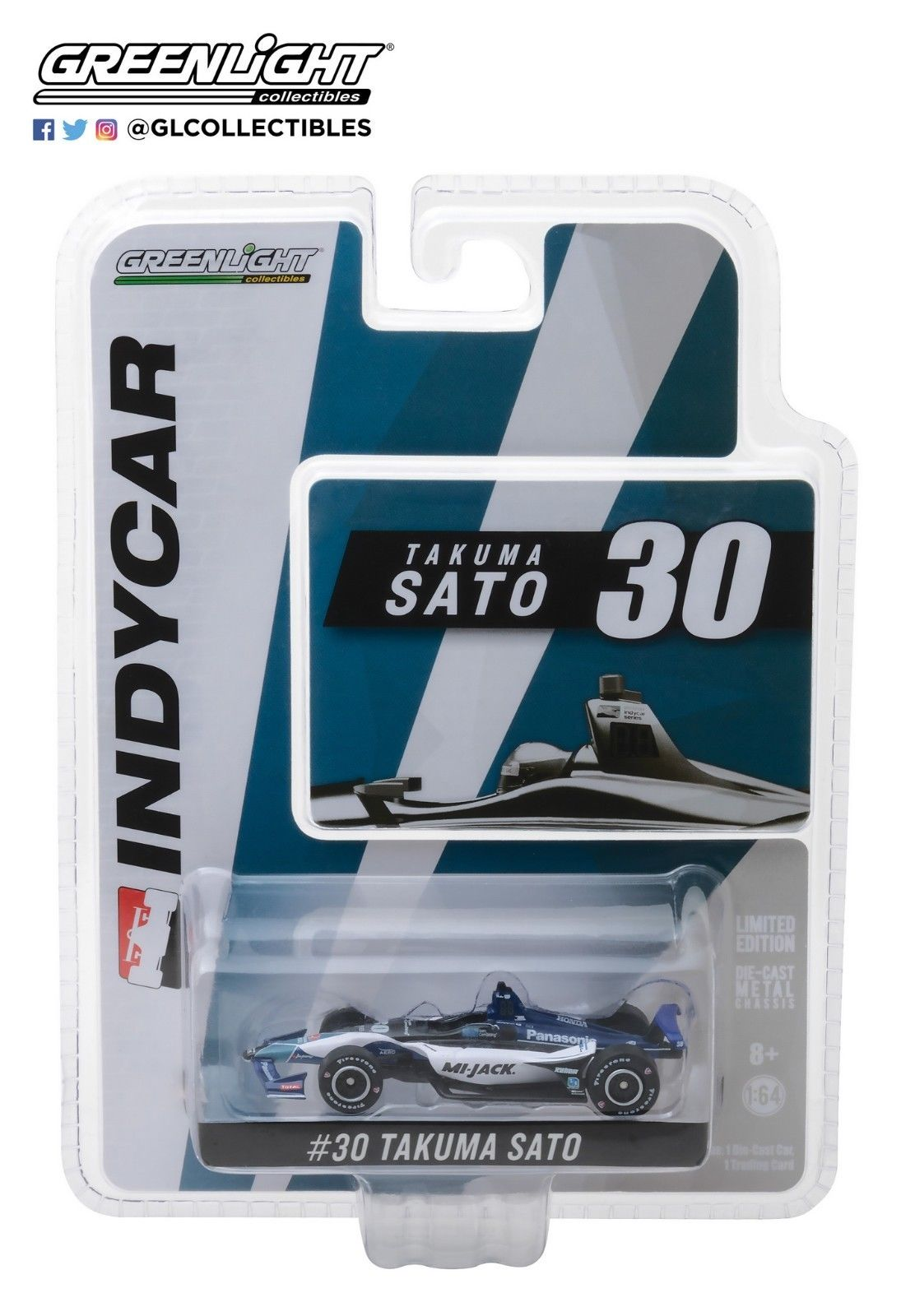 Takuma Sato #30 1/64th 2018 Greenlight MI-JACK  Indycar