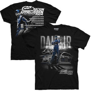 Dale Earnhardt Jr #88 JR Nation Appreci88ion Tour Statistics black tee shirt