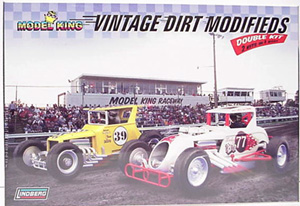 Vintage dirt modifieds double plastic model kit