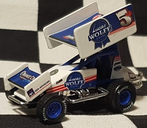 Lucas Wolfe #5 1/64th 2018 R &R Enterprises Blue Ribbon sprint car