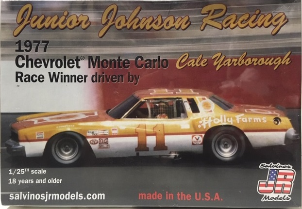 Junior Johnson Racing 1977 Holly Farms Monte Carlo Cale Yarborough race winner Salvinos JR Model kit